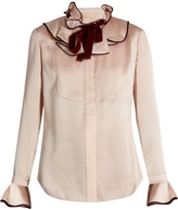 Roksanda Tuvalu seersucker-silk blouse