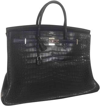 Hermes Birkin 40 Navy Crocodile Handbags