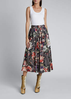 Dries Van Noten Sita Pleated Midi Skirt
