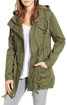 Somedays Lovin Women's 'Carmen' Lace-Up Back Cotton Twill Parka