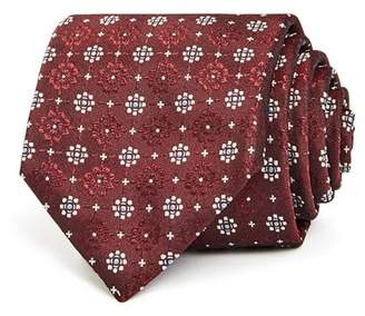 Canali Contrasting Floral Medallion Silk Classic Tie