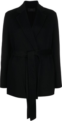 Joseph Cenda double-face belted coat