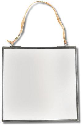 Nkuku Kiko Mirror - Antique Zinc - 30x30cm