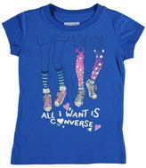 Converse Short Sleeve T Shirt Child Girls