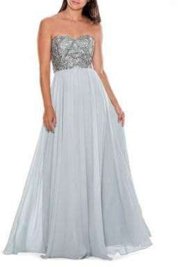 Decode 1.8 Strapless Beaded Gown