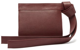 Tsatsas Tape Xs Grained-leather Clutch Bag - Burgundy
