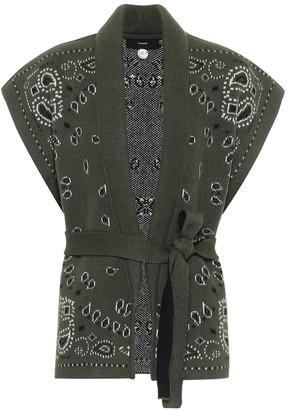 Alanui Bandana jacquard cashmere vest