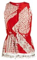 Altuzarra Bourse Bandana-print Sleeveless Top - Womens - Red Print