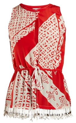 Altuzarra Bourse Bandana-print Sleeveless Top - Red Print