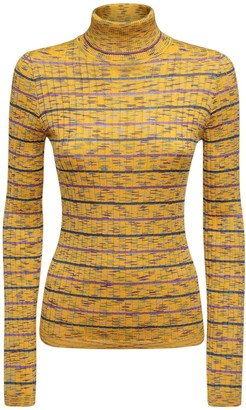 M Missoni Knit Cotton Blend Turtleneck Sweater