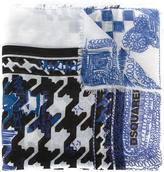 DSQUARED2 'Babe Wire' foulard scarf