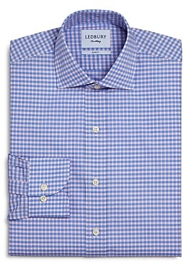 Ledbury Prestwick Cotton Gingham Check Slim Fit Dress Shirt