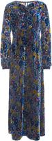 Anna Sui Garden Flower Velvet Burnout Dress