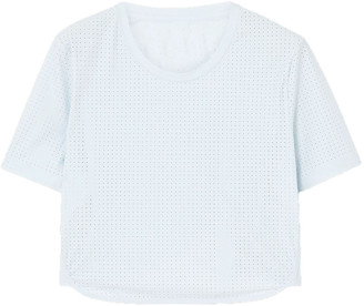 The Upside Track Cropped Perforated Stretch-jersey T-shirt