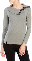 Rafaella Petite Envelope Collar Ribbed Sweater