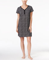 Charter Club Henley-Style Printed Sleepshirt, Only at Macy's