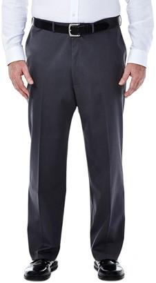 Haggar Big & Tall Premium Stretch No-Iron Khaki Flat-Front Pants