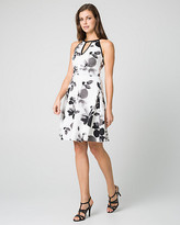 Le Château Floral Print Scuba Halter Neck Dress