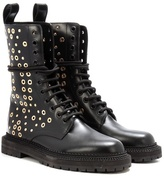 Burberry Aster Eyelet embellished boots