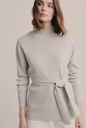 Witchery High Neck Tie Knit