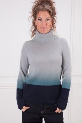 360 Cashmere Lucia Ombre Polo Knit - Xsmall