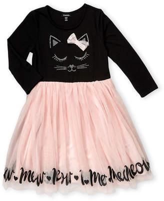 Zunie Girls 7-16) Sequin Kitty Tutu Dress