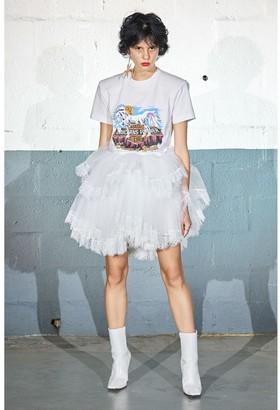 Vetements Ruffled Tulle & Lace Mini Skirt