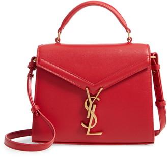 Saint Laurent Mini Cassandre Leather Top Handle Bag