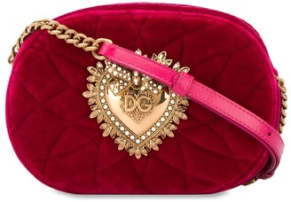 Dolce & Gabbana quilted velvet shoulder bag