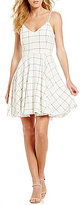 Gianni Bini Jackie Checked Full Sweep Dress