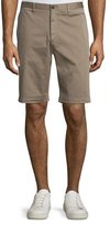 Theory Brucer Greely Flat-Front Shorts, Beige