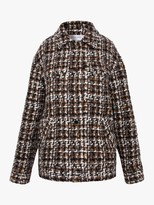 Gerard Darel Veria Check Print Coat, Beige