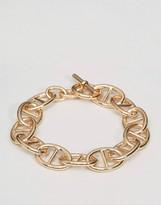 Asos Chain Interest Bracelet In Gold