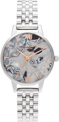 Olivia Burton Abstract Florals Bracelet Strap Watch, 30mm