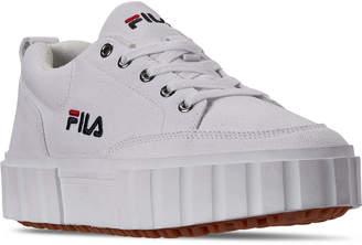 Fila Women Sandblast Low Casual Sneakers from Finish Line