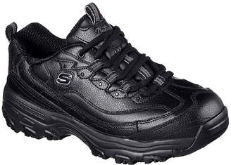Skechers Womens D'Lites Slip Resistant Work Shoes