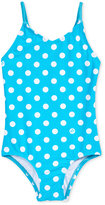 Kanu Surf 1-Pc. Suzie Dot-Print Swimsuit, Toddler & Little Girls (2T-6X)