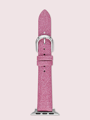 Kate Spade Pink Glitter Leather 38/40Mm Band For Apple Watch