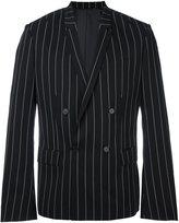 Juun.J pinstripe blazer - men - Polyester/Rayon/Wool - 46