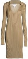 Bottega Veneta Ribbed Knit Midi Dress