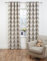 Marks and Spencer Chevron Jacquard Eyelet Curtains