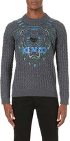 Kenzo Tiger embroidered wool and cotton-blend jumper