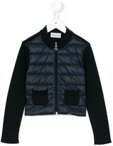 Moncler padded cardigan - kids - Cotton/Feather Down/Polyamide - 6 yrs