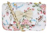 MonnaLisa Quilted Butterfly Print Shoulder Bag