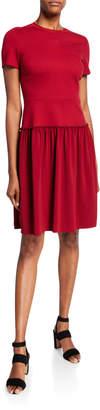Elie Tahari Jay Short-Sleeve Ponte Dress