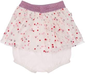 Stella McCartney Kids Polka Dots Printed Tulle Skirt