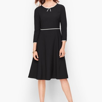 Talbots Tipped Fit & Flare Dress