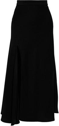 Ellery Suite One Split-front Satin-crepe Midi Skirt
