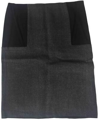 Marni Anthracite Wool Skirt for Women
