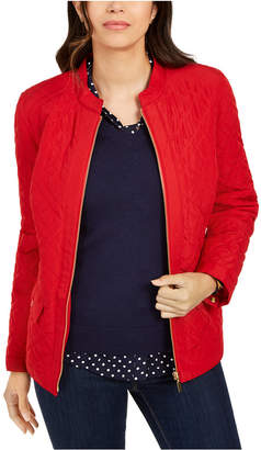 Charter Club Quilted Mandarin-Collar Jacket